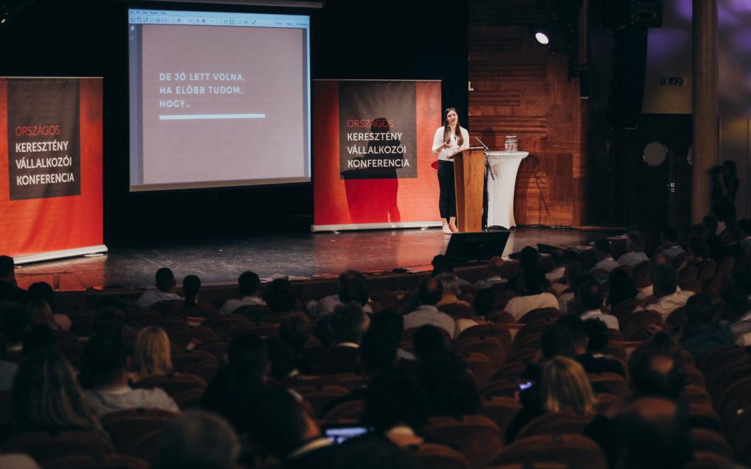Bemutattuk programunkat a Keresztény Vállalkozói Konferencián
